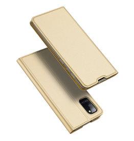 Dux Ducis Dux Ducis - pro serie slim wallet hoes - Samsung Galaxy A31 - Goud