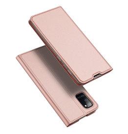 Dux Ducis Dux Ducis - pro serie slim wallet hoes - Samsung Galaxy A31 - Rose Goud
