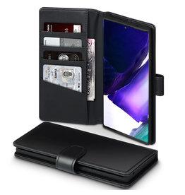 Qubits Qubits - luxe echt lederen wallet hoes - Samsung Galaxy Note 20 Ultra - Zwart