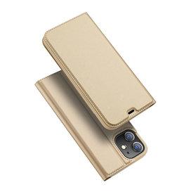 Dux Ducis Dux Ducis - Pro serie slim wallet hoes - iPhone 12 Mini - Goud