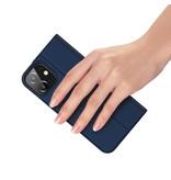 Dux Ducis Pro serie slim wallet Blauw hoes voor de iPhone 12