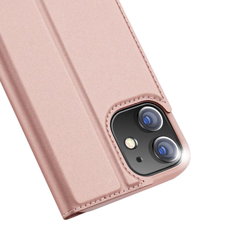 Dux Ducis Pro serie slim wallet Rose Goud hoes voor de iPhone 12 Mini