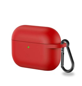 Lunso Lunso - Softcase cover hoes - AirPods Pro - Rood