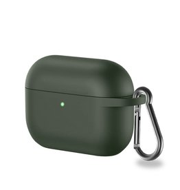 Lunso Lunso - Softcase cover hoes - AirPods Pro - Army Groen