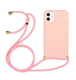 Lunso Lunso - Backcover hoes met koord - iPhone 11 - Roze