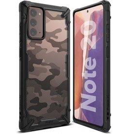 Ringke Ringke - Fusion X Guard backcover hoes - Samsung Galaxy Note 20 - Camo Zwart