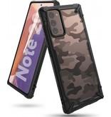 Ringke Fusion X Guard backcover hoes Camo Zwart voor de Samsung Galaxy Note 20