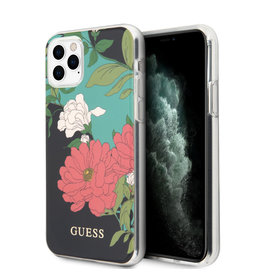 Guess Guess - backcover hoes - iPhone 11 Pro Max - Floral No. 1 + Lunso beschermfolie