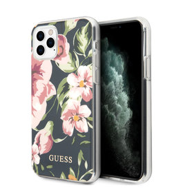 Guess Guess - backcover hoes - iPhone 11 Pro Max - Floral No. 3 + Lunso beschermfolie