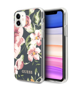 Guess Guess - backcover hoes - iPhone 11 - Floral No. 3 + Lunso beschermfolie