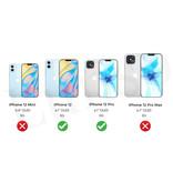 Qubits Luxe echt lederen wallet hoes Zwart voor de iPhone 12 en iPhone 12 Pro