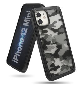 Ringke Ringke - Fusion X Guard backcover hoes - iPhone 12 Mini - Camo Zwart
