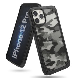 Ringke Ringke - Fusion X Guard backcover hoes - iPhone 12 / 12 Pro - Camo Zwart