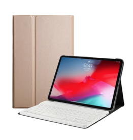 Lunso Lunso - afneembare Keyboard hoes - iPad 10.2 inch 2019 / 2020 / 2021 - Goud