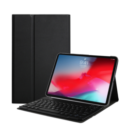 Lunso Lunso - afneembare Keyboard hoes - iPad 10.2 inch 2019 / 2020 - Zwart