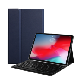Lunso Lunso - afneembare Keyboard hoes - Blauw - iPad 10.2 inch 2019 / 2020 / 2021