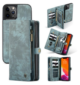 Caseme Caseme - vintage 2 in 1 portemonnee hoes - iPhone 12 Pro Max - Blauw