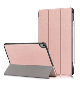 Lunso 3-Vouw sleepcover hoes - iPad Air (2020) 10.9 inch - Roze Goud