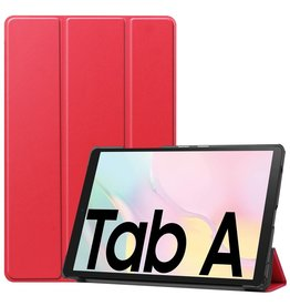 Lunso 3-Vouw sleepcover hoes - Samsung Galaxy Tab A7 (2020) - Rood