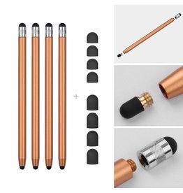 Lunso 4 stuks - Stylus touchscreen pennetjes - Goud