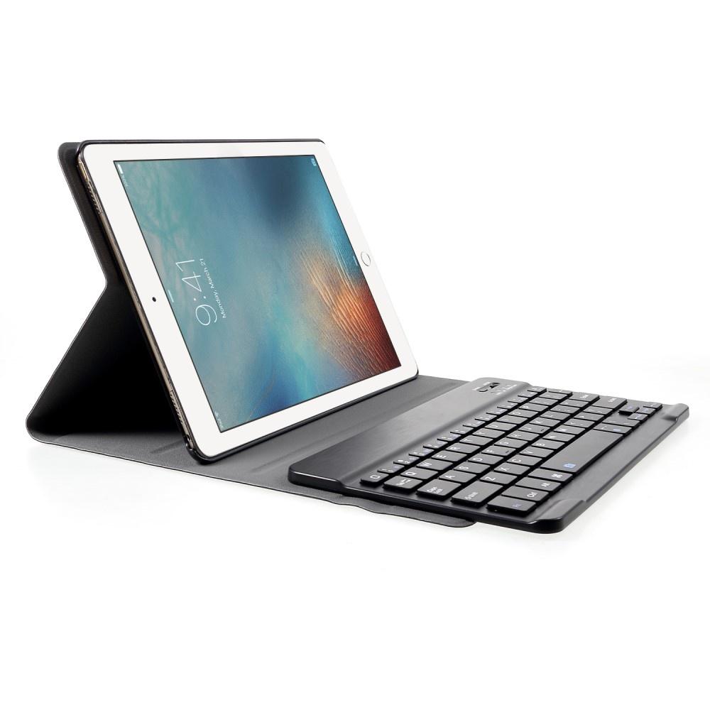 Lunso Afneembare Keyboard hoes Zwart voor de Apple iPad 9.7 (2017/2018), iPad Pro 9.7, iPad Air en iPad Air 2