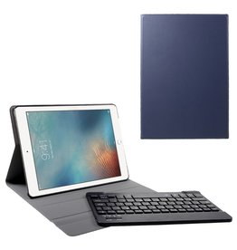 Lunso Lunso - afneembare Keyboard hoes - iPad 9.7 (2017/2018) / Pro 9.7 / Air / Air 2 - Blauw