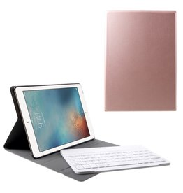 Lunso Lunso - afneembare Keyboard hoes - iPad 9.7 (2017/2018) / Pro 9.7 / Air / Air 2 - Rose Goud