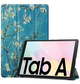 Lunso 3-Vouw sleepcover hoes - Samsung Galaxy Tab A7 (2020) - Van Gogh Amandelboom
