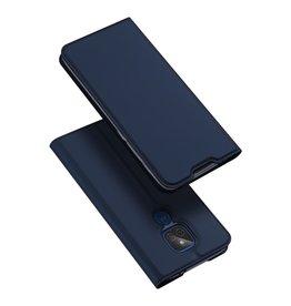 Dux Ducis Dux Ducis Pro Serie - slim wallet hoes - Motorola Moto G9 Play - Blauw