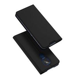 Dux Ducis Dux Ducis Pro Serie - slim wallet hoes - Motorola Moto G9 Play - Zwart