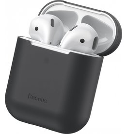 Baseus - Ultra dunne softcase cover hoes - AirPods 1 / 2 - Zwart