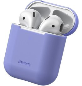 Baseus - Ultra dunne softcase cover hoes - AirPods 1 / 2 - Paars