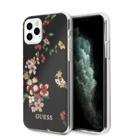 Guess Guess - backcover hoes - iPhone 11 Pro Max - Floral No. 4 + Lunso beschermfolie