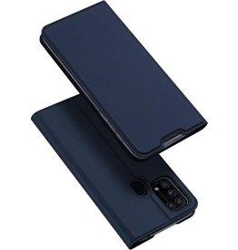 Dux Ducis Dux Ducis - Pro Serie slim wallet hoes - Samsung Galaxy M31 - Blauw