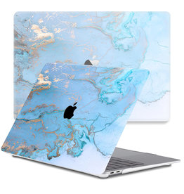 Lunso Lunso - cover hoes - MacBook Pro 13 inch (2020) - Marble Ariel