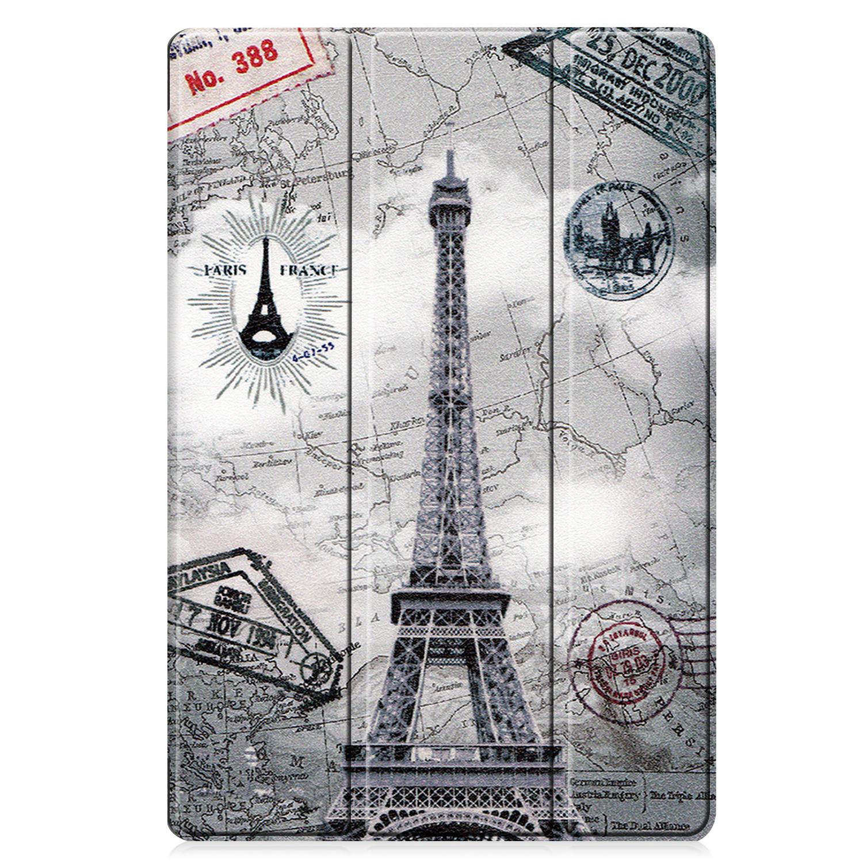 Lunso 3-Vouw sleepcover hoes Eiffeltoren voor de Samsung Galaxy Tab S7 Plus - Copy