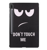 Lunso 3-Vouw sleepcover hoes Don't Touch  voor de Samsung Galaxy Tab S7 Plus - Copy - Copy