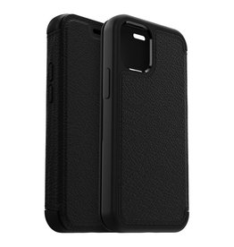 Otterbox Otterbox - Strada Case wallet hoes - iPhone 12 Pro Max - Zwart + Lunso Tempered Glass