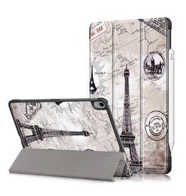 Lunso 3-Vouw sleepcover hoes - iPad Air (2020) 10.9 inch - Eiffeltoren