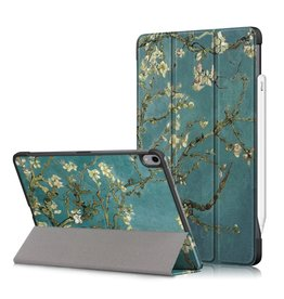 Lunso 3-Vouw sleepcover hoes - iPad Air (2020) 10.9 inch - Van Gogh Amandelboom