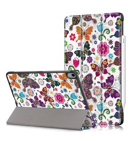 Lunso 3-Vouw sleepcover hoes - iPad Air (2020) 10.9 inch - Vlinders