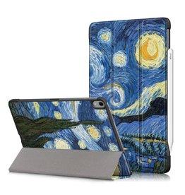 Lunso 3-Vouw sleepcover hoes - iPad Air (2020) 10.9 inch - Van Gogh Schilderij