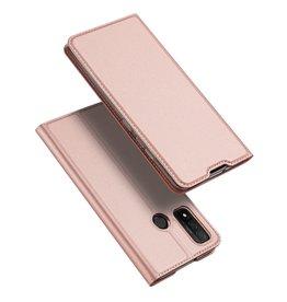 Dux Ducis Dux Ducis - Pro Serie Slim wallet hoes - Huawei P Smart (2020) - Rose Goud