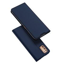 Dux Ducis Dux Ducis - Pro Serie Slim wallet hoes - Motorola Moto G9 Plus - Blauw