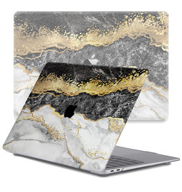 Lunso Lunso - cover hoes - MacBook Air 13 inch (2018-2019) - Marble Titus