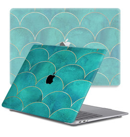 Lunso Lunso - cover hoes - MacBook Air 13 inch (2018-2019) - Blue Waves
