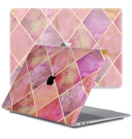 Lunso Lunso - cover hoes - MacBook Pro 13 inch (2016-2019) - Diamond Rose