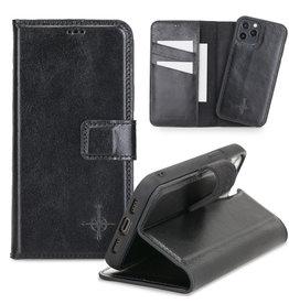 NorthLife NorthLife - Uitneembare 2-in-1 (RFID) bookcase hoes - iPhone 12 / 12 Pro - Burcht Trecht Zwart