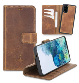 NorthLife NorthLife - 2-in-1 (RFID) bookcase hoes - Samsung Galaxy S20 - Villa Cruoninga Cognac
