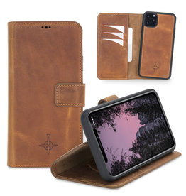 NorthLife NorthLife - 2-in-1 (RFID) bookcase hoes - iPhone 11 Pro Max - Villa Cruoninga Cognac
